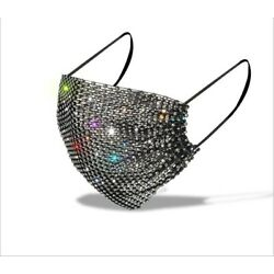 Kyпить Bling Rhinestone Glitter MESH Fashion Face Mask COVER  US SELLER FREE SHIPPING!! на еВаy.соm