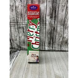 Hallmark Stickers Moveable Decorations Merry Christmas 17x24 sheet 28c