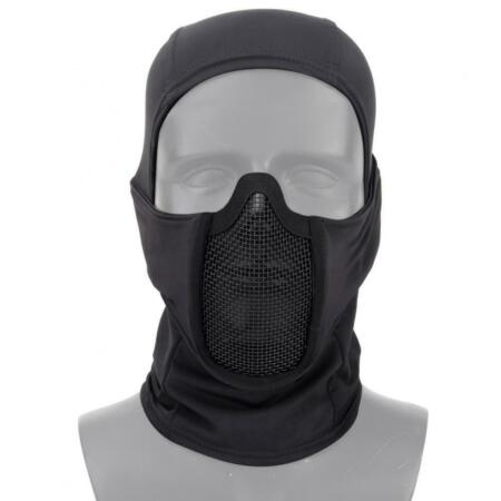 img-Balaclava Black IN Polyester With Net Metallic Shadow Fighter WOSPORT