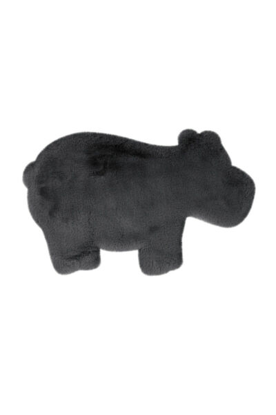 AllemagneTapis Hippo Animal Gris Anthracite Verschied.  Moelleux Chambre