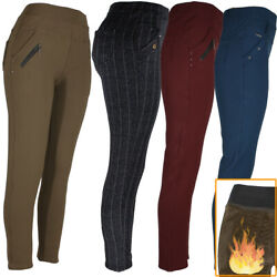 Kyпить Womens Winter Pants Warm Fleece Fur Lined 4 Pocket Stretch Thermal Trousers  на еВаy.соm