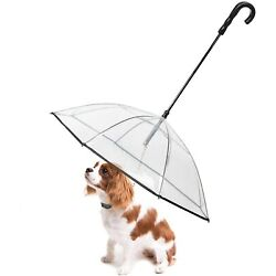 LESYPET Pet Dog Umbrella with Leash for Small Pets, Fits 20  Back Length Pets