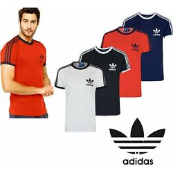 Kyпить Adidas Originals California Men's T-Shirt Trefoil Retro 3-Stripes Short Sleeve  на еВаy.соm