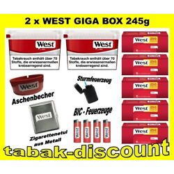 Kyпить 2 X WEST RED 280g GIGA BOX VOLUMEN TABAK + 1250
