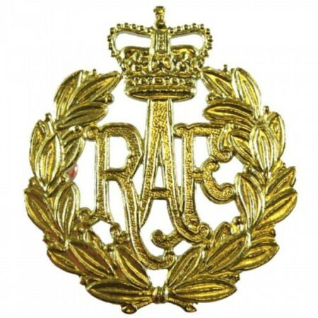 img-MILITARY RAF ISSUED BRASS AIRMENS CAP | BERET BADGE ROYAL AIR FORCE BRAND NEW