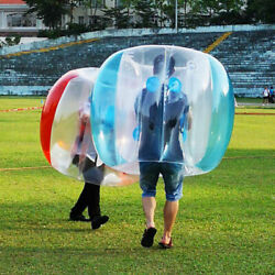 2PCS Inflatable Bumper Ball Red PVC Body Zorb Ball Bubble Football Soccer Game