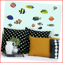 Tropical Fish Peel and Stick Wall Decals