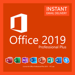 Kyпить MICROSOFT OFFICE 2019 PROFESSIONAL PLUS 32/64 BIT LICENSE KEY INSTANT DELIVERY на еВаy.соm