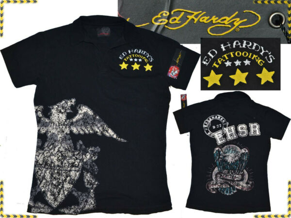 EspagneED HARDY by  Audigier Polo Uomo S Fino - 80% EH03 N1G