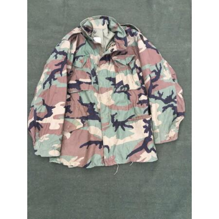 img-Vintage Genuine US Army Woodland M65 Camouflage Combat Jacket - VARIOUS SIZES