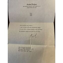 Kyпить Richard Rodgers Signed Letter на еВаy.соm