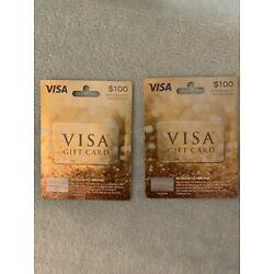 Kyпить 2X $100 Vanilla Gift Cards Ready To Use Activated No Fees $200 Great For Gifts на еВаy.соm