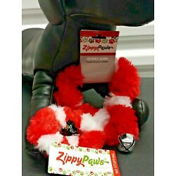 Zippy Paws Dog Pet Holiday Christmas Jingle Bell Collar Neck Scrunchie Red White