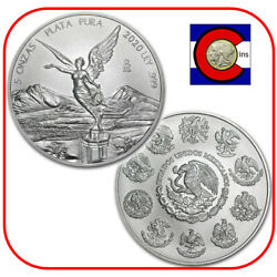 Kyпить 2020 Mexico Libertad 5 oz BU Mexican Silver Coin in direct fit capsule на еВаy.соm