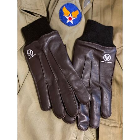 img-Reproduction A-10 Intermediate Flying Gloves, Leather, Brand New, WW2 Era USAAF