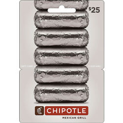 Kyпить $25 Chipotle Gift Card на еВаy.соm