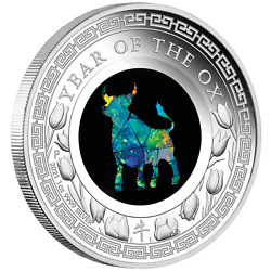 Kyпить 2021 Australia Opal Series Lunar Year of the OX 1oz Silver Proof $1 Coin на еВаy.соm