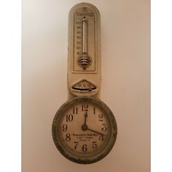 Kyпить Vintage Minneapolis Honeywell 8 Day 7Jewel Model 77 Thermostat Clock  на еВаy.соm
