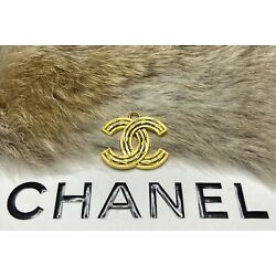 Kyпить Chanel Gold CC Logo STAMPED Quilted Button Large 26mm Metal Zipper Pull на еВаy.соm