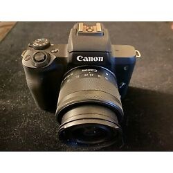 Kyпить Canon EOS M50 24.1 MP Mirrorless Camera w/ 15-45mm lens and charger Great Shape на еВаy.соm