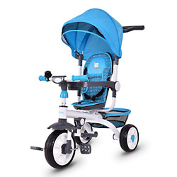 Kyпить Pink Baby Stroller Tricycle Ride On Bike Round Canopy Travel System Handle Push  на еВаy.соm