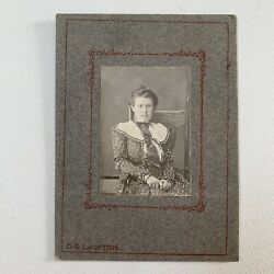 Kyпить Antique Cabinet Card Photograph Beautiful Woman In Chair Portrait Printed Dress на еВаy.соm