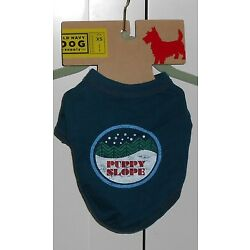 OLD NAVY BLUE ''PUPPY SLOPE'' DOG TEE - SIZE XSMALL