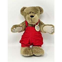 VTG Applause Teddy Bonita Bear Beever Limited Edition #686 Red Overalls