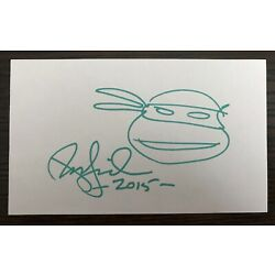 Kyпить Peter Laird Signed Autograph 3x5 Index Card Teenage Mutant Ninja Turtles TMNT на еВаy.соm