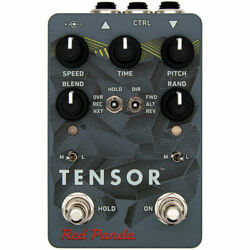 Red Panda Tensor Time Warp Delay and Pitch Shifter Effects Pedal