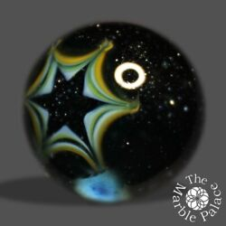 Kyпить 26mm-Handmade Art Glass Marble-Blue Sunburst Aventurine UV- by: A R Buckner на еВаy.соm