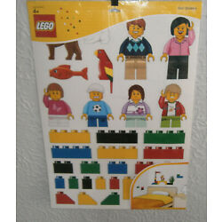 New Sealed LEGO Classic Wall Stickers # 850797  3 Sheets