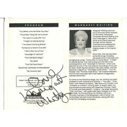 MARGARET WHITING signed AUTOGRAPH  305