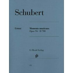Kyпить Schubert Moments Musicaux Op. 94 D 780 Sheet Music Piano Solo Book 051480375 на еВаy.соm