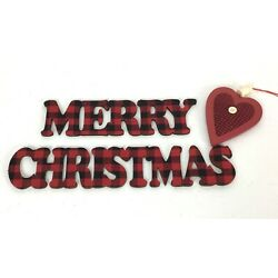 Kyпить Red Black Country Merry Christmas Heart Craft Wreath Decor на еВаy.соm