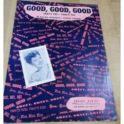 Kyпить Good Good Good 1944   Sheet Music  (b)  на еВаy.соm