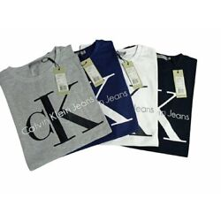 Kyпить Calvin Klein Men's T-Shirt Monogram Logo Graphic Short Sleeve Crew Neck Tee NEW на еВаy.соm