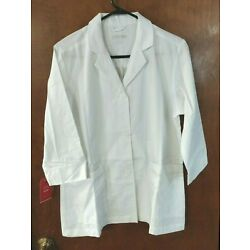 RED PANDA Women's White Lab Coat Style 7126 Size M LOT of 2 New With Tags