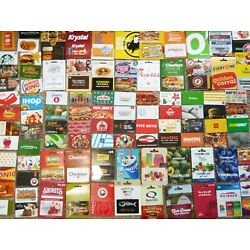 Kyпить Gift Card LOT of 101 Different Food & Restaurant Only -No Value - Each Pictured  на еВаy.соm