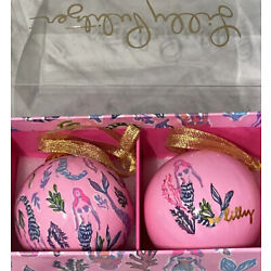 Kyпить Lilly Pulitzer GWP Christmas Ornaments Mermaid Girls Night Out New Pink Painted на еВаy.соm