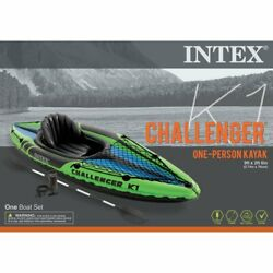 Kyпить ????Intex Challenger K1 Kayak-1-Person Inflatable Kayak Set w/ oars and pump на еВаy.соm