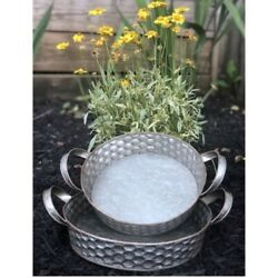 New Rustic Farmhouse SET 2 BEE HIVE HONEY COMB TRAY WITH HANDLES Metal Basket