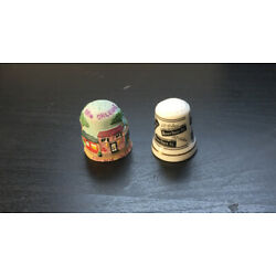 Kyпить Lot of 2 NEW ORLEANS LA Thimbles French Quarter & Bourbon St на еВаy.соm