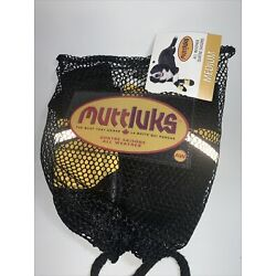Muttluks Dog Boots All Weather Yellow Black Leather Fleece Lined Shoes NEW