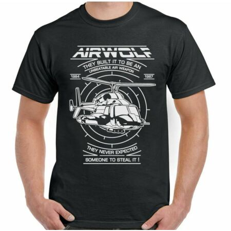 img-Airwolf T-Shirt Mens 80's Retro TV Programme Helicopter Drama Show The A-Team