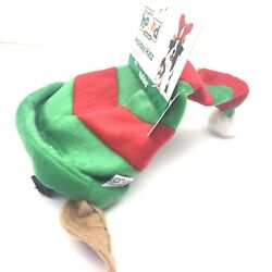 Christmas Elf Hat with Ears Pet Dog Christmas Costume Outward Hound Red Green