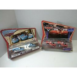 Disney Cars Movie Moments Supercharged Mia & Tia Red and Blue Toy Car Set of (4)