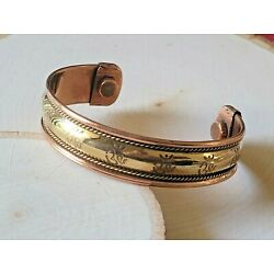 Copper Magnetic Bracelet Arthritis Pain Therapy Energy Cuff Bangle OM
