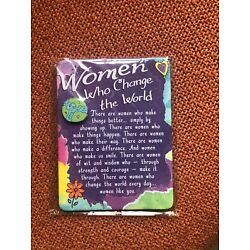 Blue mountain Miniature Easel Print with Magnet: Women Who Change the World New