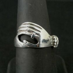 Kyпить Ring Silver Hand with Ring and Bracelet On Band Sterling 925 Size 7 Band Ring  на еВаy.соm